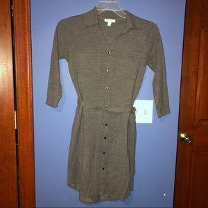 New York & company sweater dress gray size XS